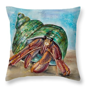 Hermit Crab 4 Throw Pillow