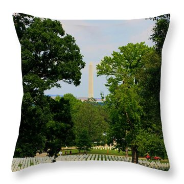 Heroes And A Monument Throw Pillow by Patti Whitten