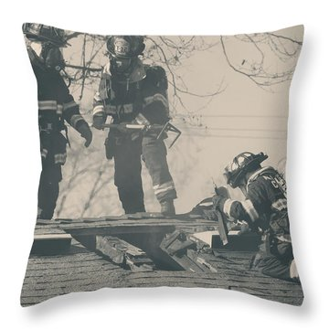 Heroes Throw Pillow by Laurie Search