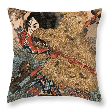 Heroes Of The Suikoden Throw Pillow