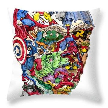 Heroic Mind Throw Pillow by John Ashton Golden