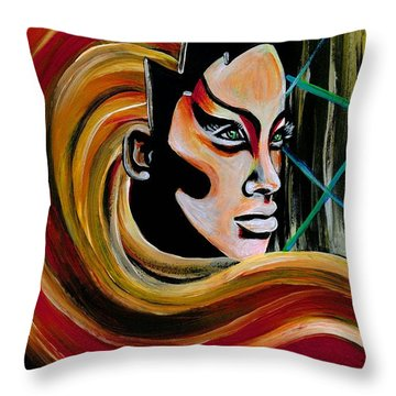 Heroine Throw Pillow
