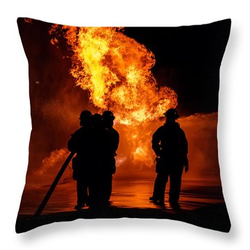 Hero's Throw Pillow by Sennie Pierson