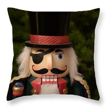 Herr Drosselmeyer Nutcracker Throw Pillow
