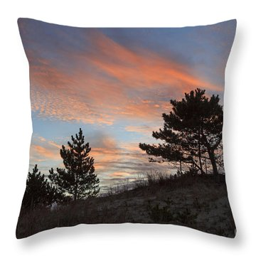 Herring Point Sunset Throw Pillow