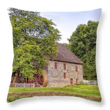 Throw Pillow featuring the photograph Herr's Mill by Jim Thompson