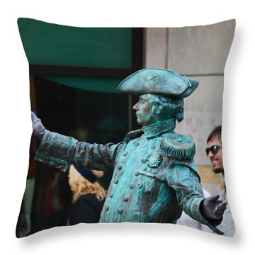 He's Alive Throw Pillow by Kym Backland