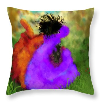 He's Mine Throw Pillow by Mary Eichert