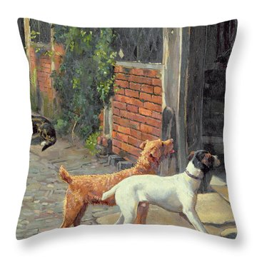 Hesitation Throw Pillow by Alfred Duke