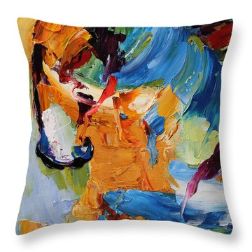 Hesitation Horse 12 Of 100  2014 Throw Pillow