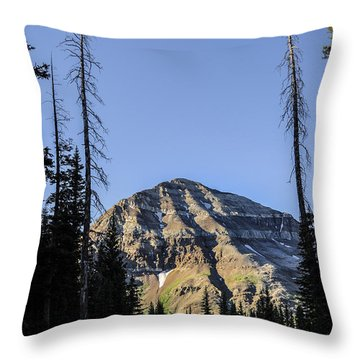Hesperus Mountain Throw Pillow by Aaron Spong