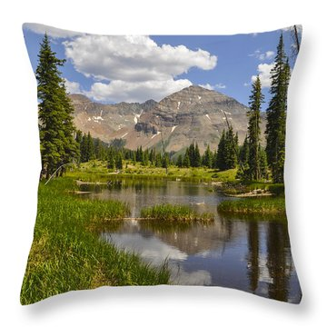 Hesperus Mountain Reflection Throw Pillow