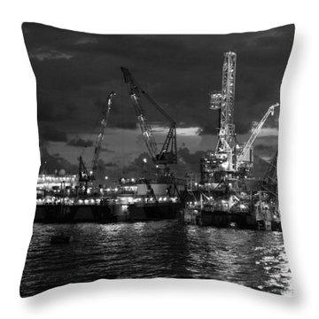 Hess West Esperanza Rig Throw Pillow