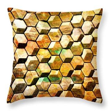 Hexacubes Throw Pillow