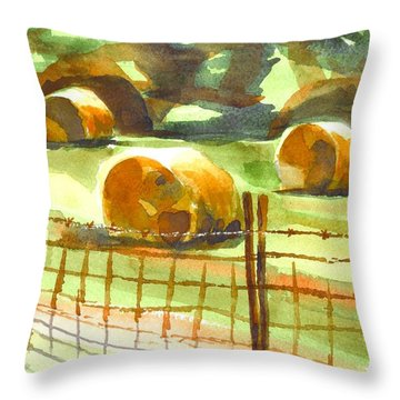 Hey Bales In The Afternoon Throw Pillow by Kip DeVore