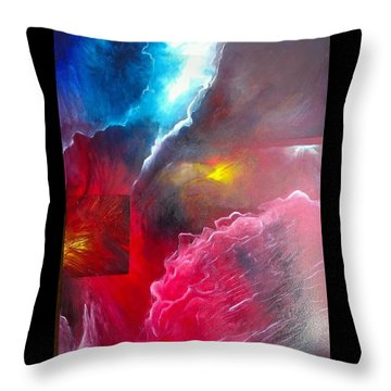 HEY Throw Pillow by Carrie Maurer