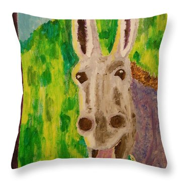 Hey Jack Throw Pillow by Harold Greer