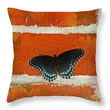 Hey Where Are The Flowers? Throw Pillow by Lena Wilhite