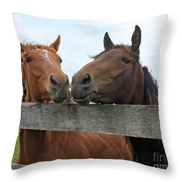 Hey You Come Here Throw Pillow by Debbie Hart