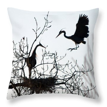 Hi Honey I Am Home Throw Pillow