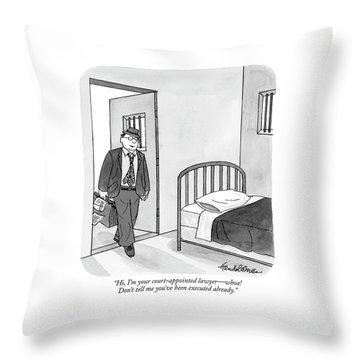 Prison Cell Throw Pillows