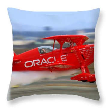 Hi Speed Low Pass By Sean Tucker At Salinas Ksns Air Show Throw Pillow