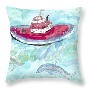 Hi Tide Throw Pillow by Helen Holden-Gladsky