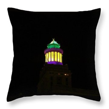 Hibernia Tower - Mardi Gras Throw Pillow
