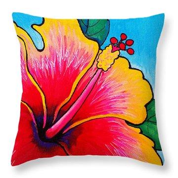 Hibiscus 01 Throw Pillow