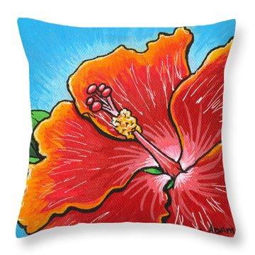 Hibiscus 06 Throw Pillow