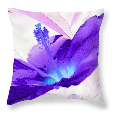 Hibiscus - After The Rain - Photopower 754 Throw Pillow by Pamela Critchlow