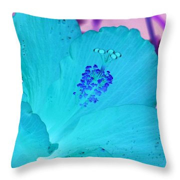 Hibiscus - After The Rain - Photopower 760 Throw Pillow by Pamela Critchlow