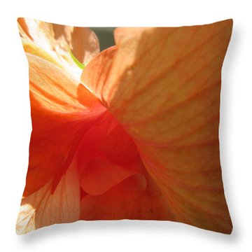 Hibiscus Butterfly Throw Pillow