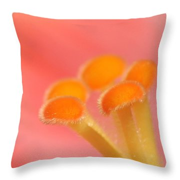 Hibiscus Center Macro Throw Pillow