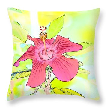 Throw Pillow featuring the photograph Hibiscus Dream 2 by Cathy Shiflett