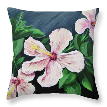 Hibiscus No. 1 Throw Pillow