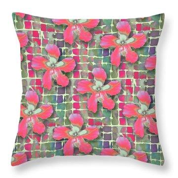 Hibiscus Pink Water Throw Pillow