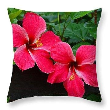 Hibiscus Portrait Throw Pillow