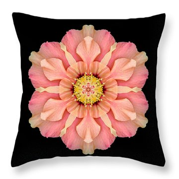 Throw Pillow featuring the photograph Hibiscus Rosa-sinensis I Flower Mandala by David J Bookbinder