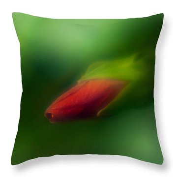 Throw Pillow featuring the photograph Hibiscus Softly 1 by Travis Burgess