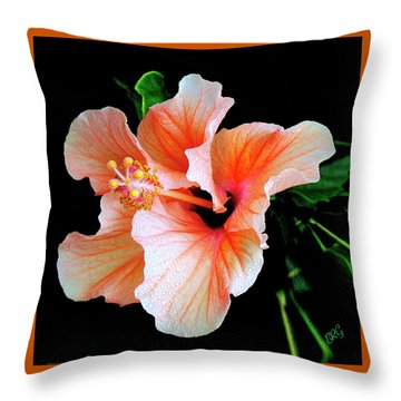 Flowers And Water Drops Throw Pillows