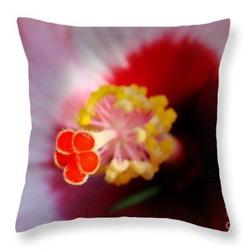 Hibiscus Stigma Pads Throw Pillow