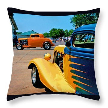 Throw Pillow featuring the photograph Hiboy Over Fender Custom by Christopher McKenzie