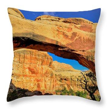 Hickman Bridge Throw Pillow by Greg Norrell