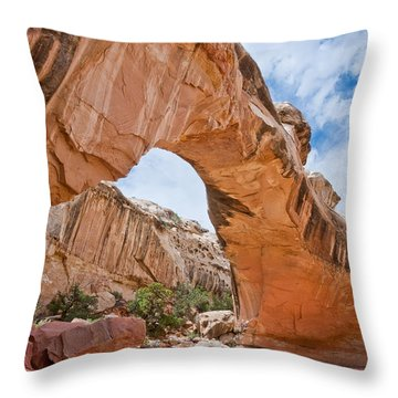 Throw Pillow featuring the photograph Hickman Bridge Natural Arch by Jeff Goulden