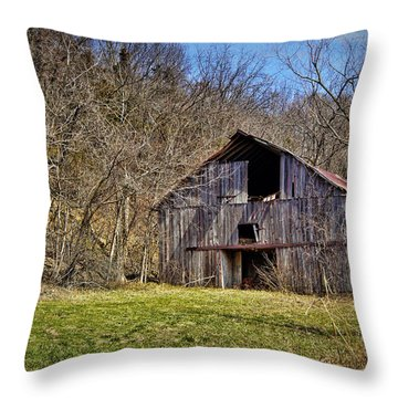 Hidden Barn Throw Pillow