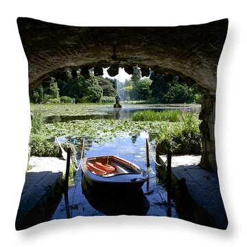 Hidden Boat Throw Pillow