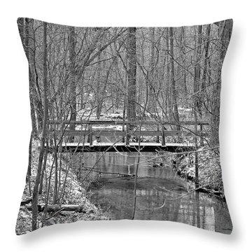 Hidden Bridge Throw Pillow