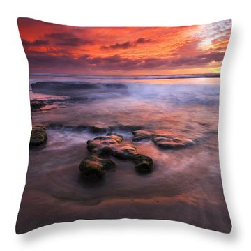 Hidden By The Tides Throw Pillow by Mike  Dawson