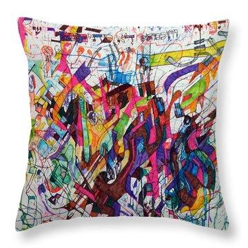Hidden Throw Pillow by David Baruch Wolk